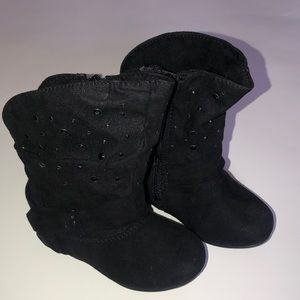 NEW Toddler Girls Fiona Faux Fur trimmed Canyon River Blues boots brown//black